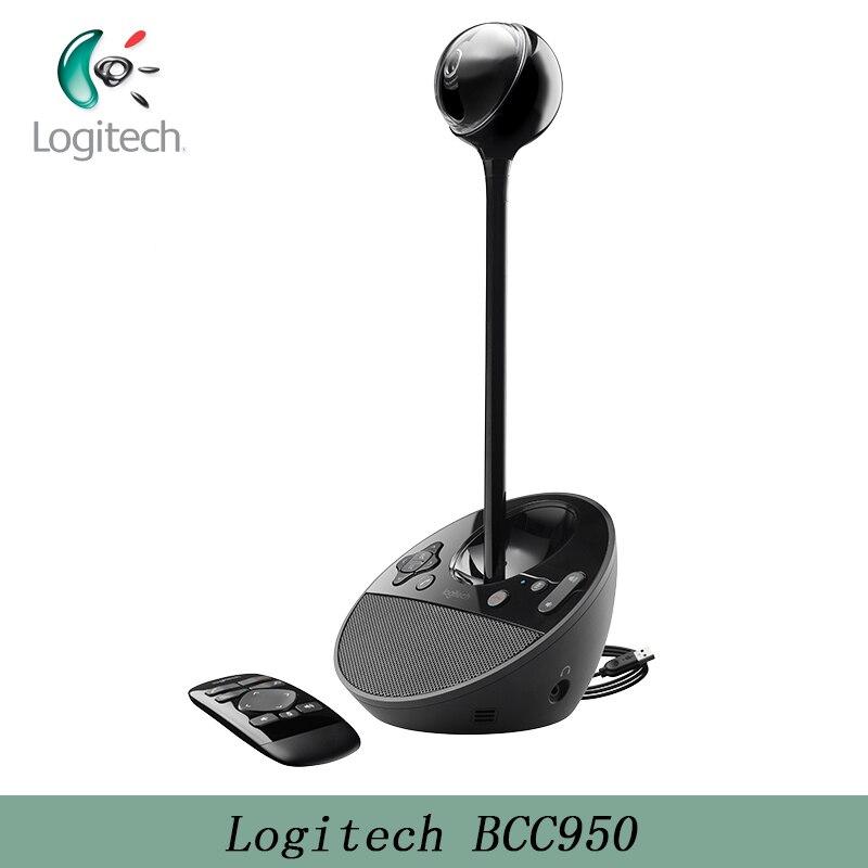 Logitech BCC950 caméra de conférence Full HD 1080P Webcam vidéo de bureau pour bureaux privés bureaux à domicile et la plupart des espaces semi-privés
