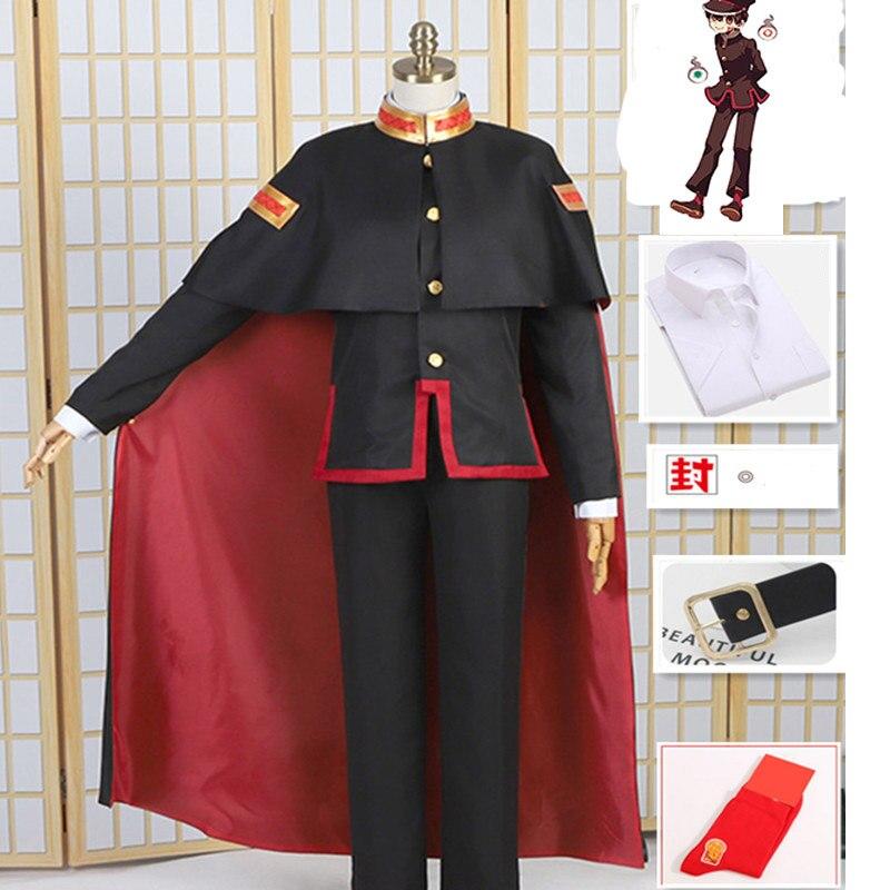 Anime Toilet-Bound Jibaku Shounen Costume Hanako Kun Cosplay Uniform Suit Cloak Hat Halloween Carnival Costume