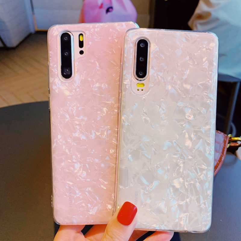 Bling Sequin Shell Pattern Clear Soft TPU Case Cover For Huawei P20 P30 Mate 10 20 Nova 3 3i 4 4e 5 Honor 8A 9 9X 10 20 Pro Capa