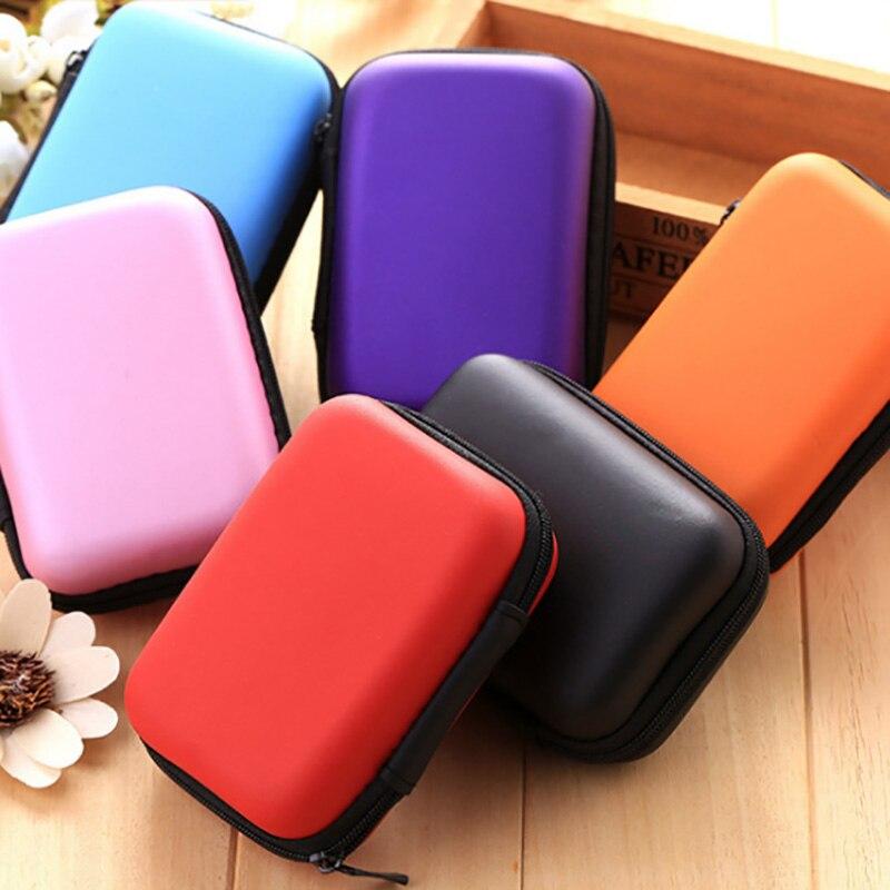 7 cores caso duro para jogos de tabuleiro crianças cartões de jogo de viagem zíper carry casos caixa de armazenamento