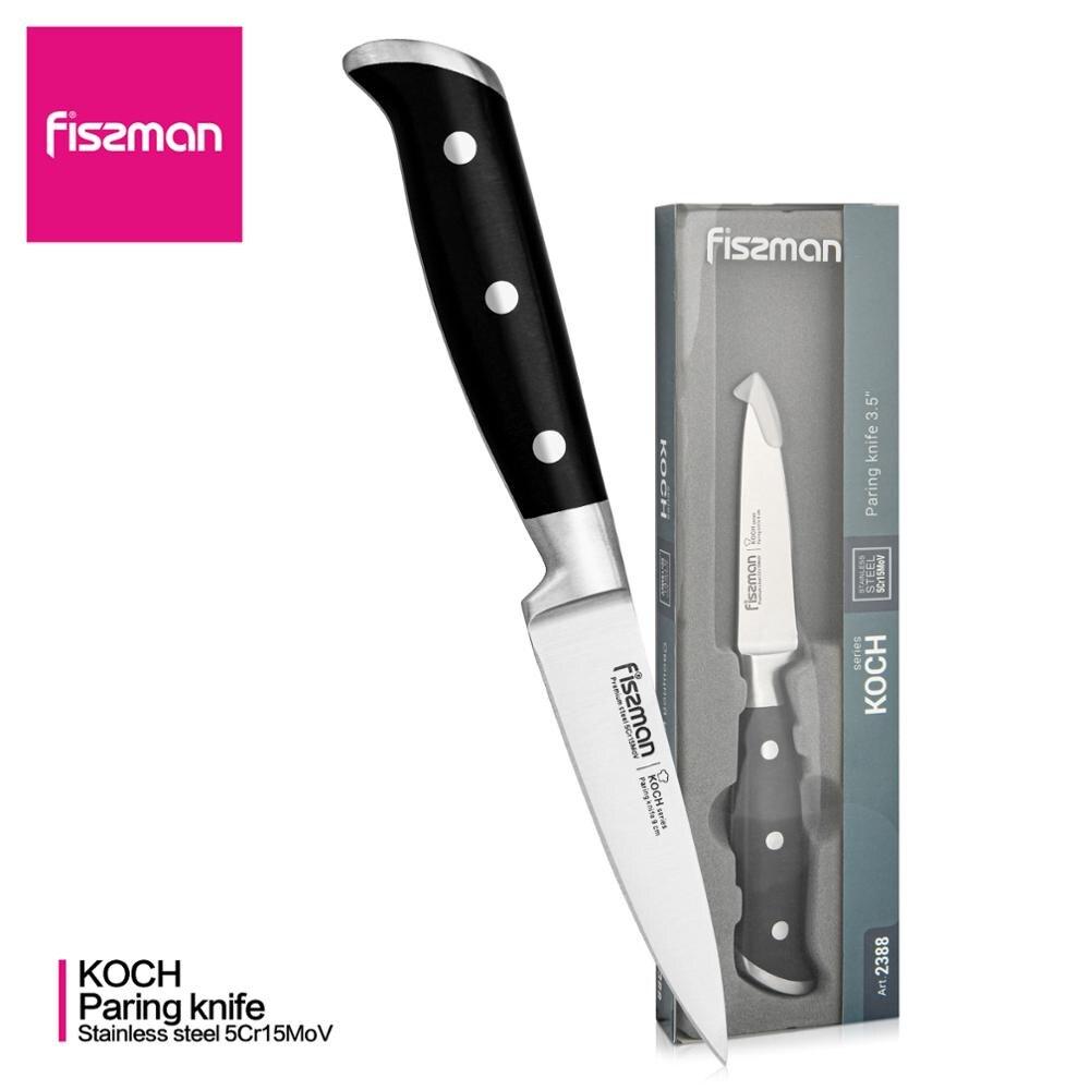 FISSMAN-cuchillo de pelar serie KOCH, 3,5 pulgadas, cuchillos de cocina de acero alemán