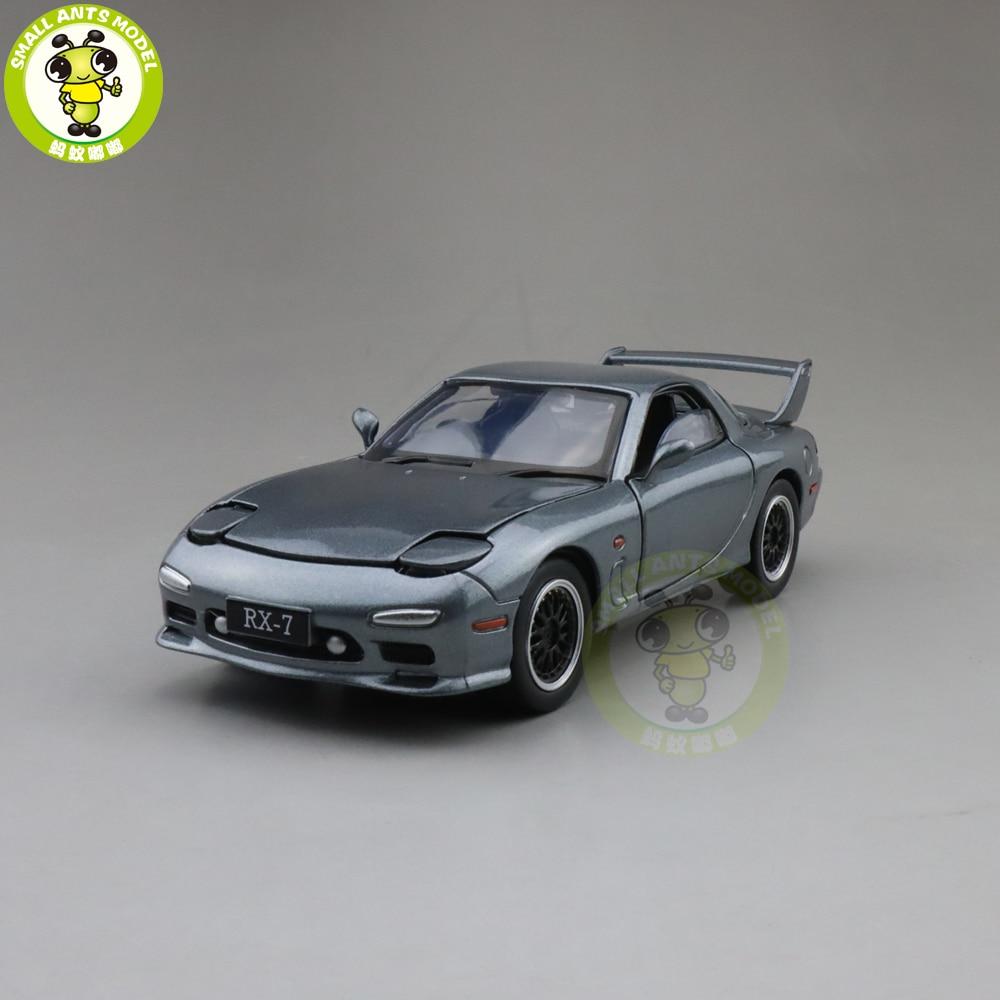 1/32 JACKIEKIM MAZ DA RX-7 RX 7 Diecast Model CAR Toys For Kids Children Sound Lighting Gifts