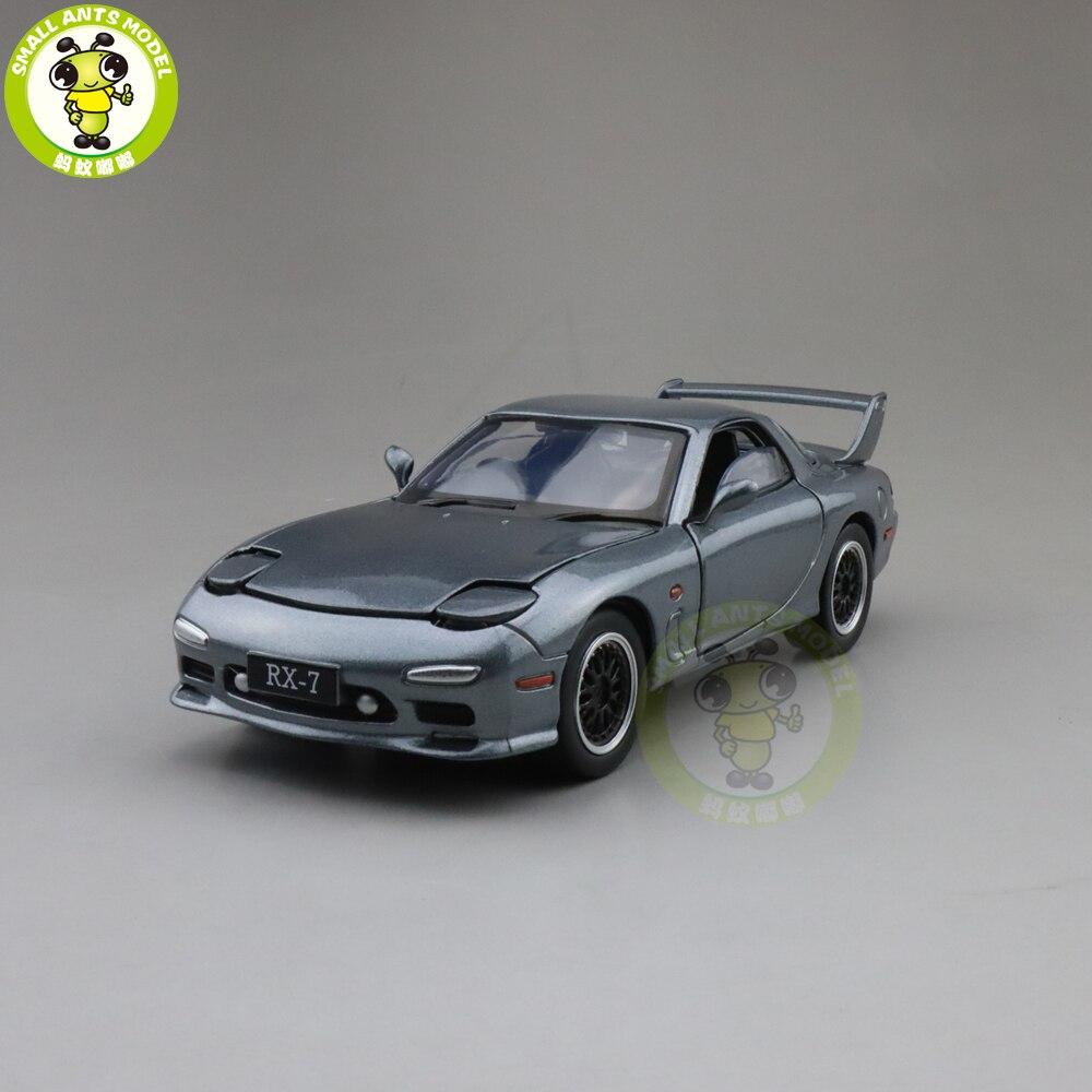1/32 JACKIEKIM MAZDA RX-7 RX 7 Diecast Model CAR Toys For Kids Children Sound Lighting Gifts