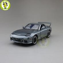 JACKIEKIM MAZ DA RX 7 RX 7, modelo de coche fundido a presión, juguetes para niños, iluminación de sonido, regalos, 1/32