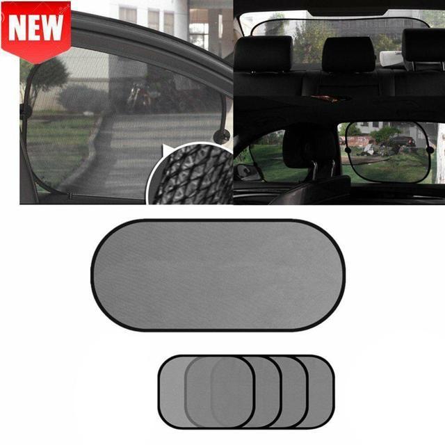 黒の車の窓サンシェード太陽シェーディングボードカーシェードサンブロックブロック太陽保護 5 ピース/セット