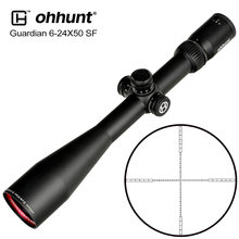 Jacht ohhunt Guardian 6-24X50 SF Rifle Scope 1/2 Half Mil Dot Richtkruis Side Parallax Torentjes Lock Reset Tactische Riflescopes(China)