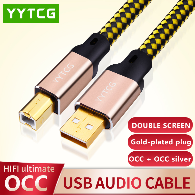 YYTCG 2FT/3FT/5FT HIFI USB кабель DAC A-B Alpha OCC Digital AB Audio A to B high end