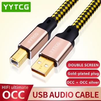 YYTCG 2FT 3FT 5FT HIFI kabel USB DAC A-B Alpha OCC cyfrowy AB Audio A do B wysokiej klasy tanie i dobre opinie Mini USB Mężczyzna Mężczyzna Rohs T3-USB CN (pochodzenie) kable usb USB 2 0 Pakiet 1 KARTONOWE PUDEŁKO PLECIONY Brak