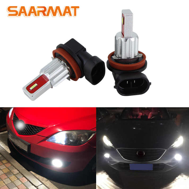 2x Super CanbusH8 H9 H11 <font><b>LED</b></font> Fog Light Driving Bulbs for <font><b>mazda</b></font> 3 <font><b>5</b></font> 6 xc-<font><b>5</b></font> <font><b>cx</b></font>-7 axela atenza White 3000K Yellow Crystal Blue image