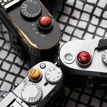 금속 볼록 표면 소프트 셔터 릴리즈 버튼 Fujifilm X T4 X T3 X T2 X T20 X T30 X E3 X PRO2 X100T Leica M240 M10 M10P