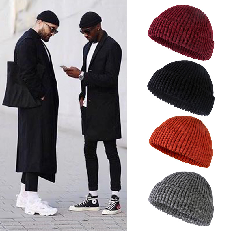 Beanies Unisex Wool Hat Winter Warm Cold Cap Male Knitted Caps Head Cap Melon Hat Outdoor Fashion Skullies Cap Female