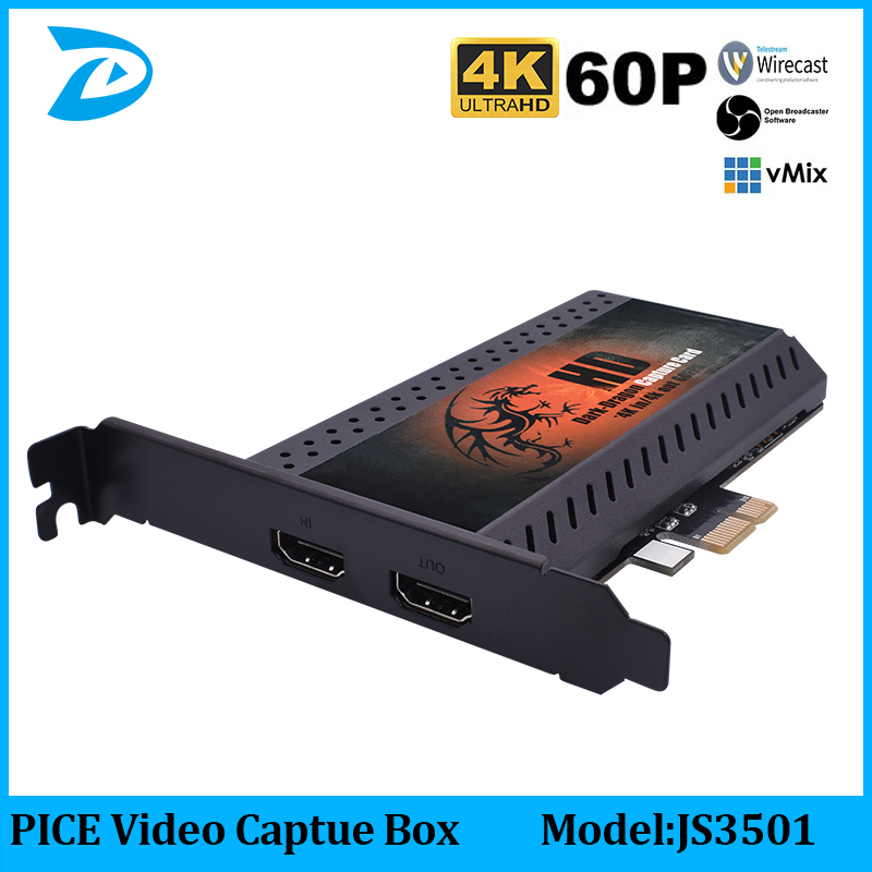 Record 4K 1080P 60fps HD Video Via HDMI Connection PCIE Capture,Linux Hdmi Video Capture Card On PC,PCI-EXPRESS 4KP60 Card