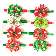 50pcs Pet Products Dog Accessories Christmas Party Holiday Puppy Dog Cat Bowties