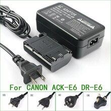 ACK E6+DR E6 Full Decoded AC Adapter For Canon AC E6 DR E6 013803104431 3351B002 3352B001AA EOS 5D Mark II