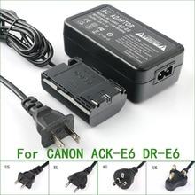 ACK E6 + DR E6 Volle Decodiert AC Adapter Für Canon AC E6 DR E6 013803104431 3351B002 3352B001AA EOS 5D Mark II
