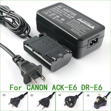 ACK E6 + DR E6 Volledige Decoded Ac Adapter Voor Canon AC E6 DR E6 013803104431 3351B002 3352B001AA Eos 5D Mark Ii