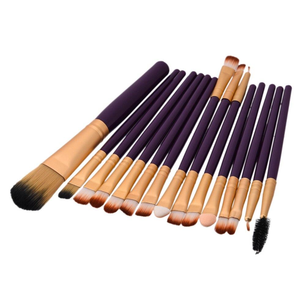 YSDO 15 набор кистей для макияжа, кисти в комплекте Кисть для макияжа, кисти для макияжа, набор инструментов, подводка для глаз, смешанный натур...