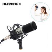 Alawrex AX-800 микрофон для караоке Студийный конденсаторный микрофон KTV BM 800 микрофон для компьютера радио Braodcasting Пение Запись