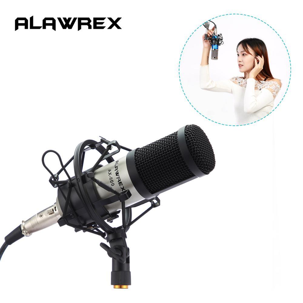 Alawrex AX-800 Karaoke Microphone Studio Condenser Mikrofon KTV BM 800 Mic For Computer Radio Braodcasting Singing Recording