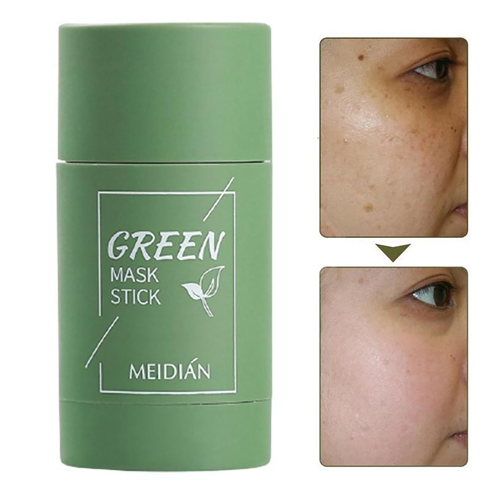 Green Tea Purifying Masks Clay Stick Oil Control Anti-Acne Eggplant Fine Cleaning Mask Whitening Skin Care Products Gift cadeau 5