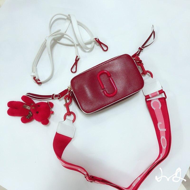 High Quality Brand Bag Designer Camera Purse Leather Handbags Small Flap Summer Satchels Wide Strap Clutch Shoulder Tote