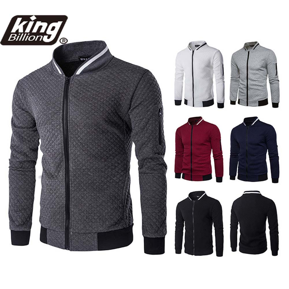 KB New High Quality Plush Zip stand collar casua Jacket Men's Street Windbreaker Coat Men Hot Casual Outer Wear Thick