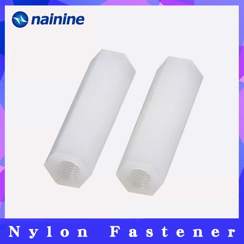 Spacing Screw [M2 M2.5 M3 M4 M5] Nylon Hex Standoff Spacer Column Flat Head Double Pass Plastic NL04 standoff spacer m3 m4m4 hex - AliExpress