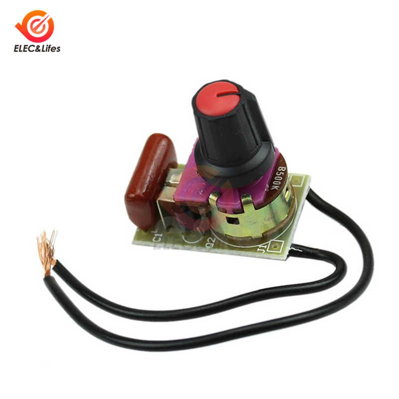 100W LED dimmer módulo DIY Kit para Arduino regulador de intensidad interruptor de luz tablero AC Motor potenciómetro interruptor controlador de velocidad