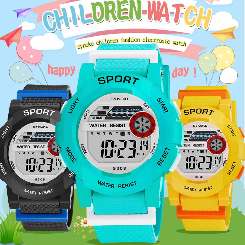 Children's watch student sports outdoor electronic watch fashion multi-function luminous waterproof hot sale grand gift watch 02
