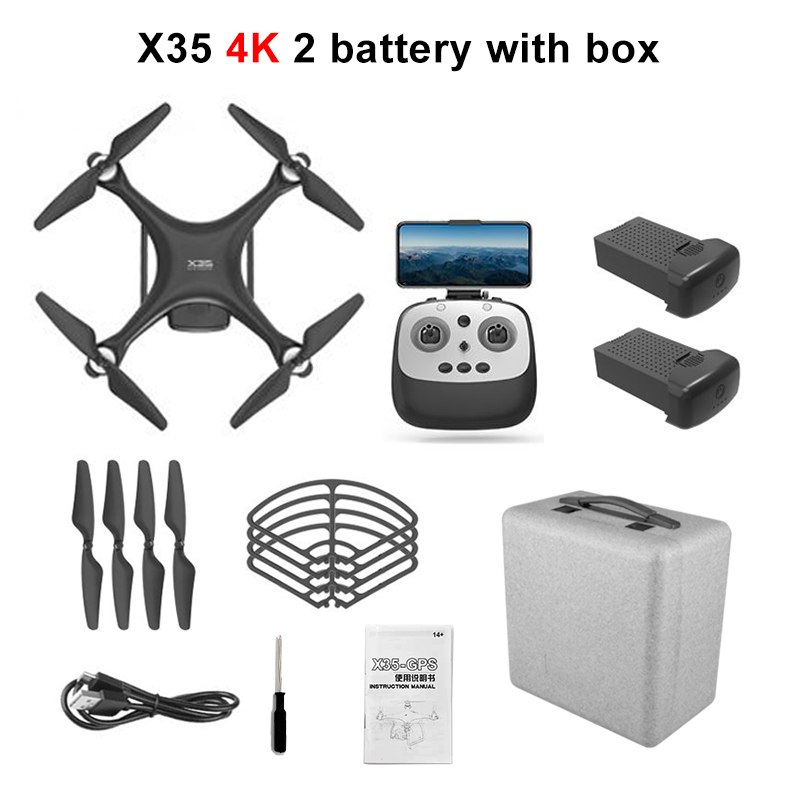 X35 Professional Drone GPS with Camera 4K 30mins 5G WIFI FPV Quadrocopter long distance Brushless RC Quadcopter Dron