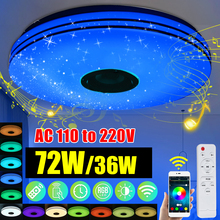 Lamps Music-Light Ceiling-Lamp Remote-Control LED Bedroom Smart Modern Rgb Bluetooth