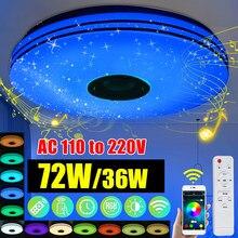 Moderne rvb LED plafonniers éclairage à la maison 36W 72W APP bluetooth musique lumière chambre lampes Smart plafonnier + télécommande