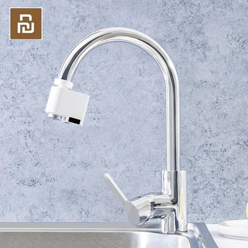 Youpin xiaoda Smart Sensor Faucet Infrared Sensor Automatic Water Saver Tap Anti-overflow Kitchen Bathroom Inductive Faucet
