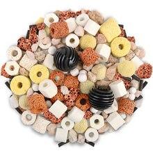 500g akwarium wkład filtracyjny pierścienie ceramiczne węgiel aktywny kule Bio czysta woda z bezpłatnym filtr sitko torba