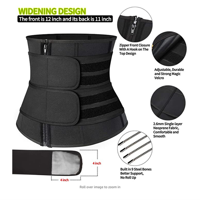 Fitness Body Shaper Band Weight Loss Sweat Slimming Waist Trainer Support Belt for Effective Working-out Accessories Dropship 4