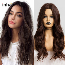 Inhaircube Charming Long Hair Body Wave Synthetic wigs Middle part