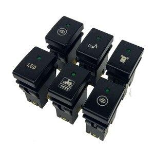 Image 2 - 1PC Heizung Rück fan Radar parkplatz sensor Nach Nebel Licht rückspiegel falten Schalter Taste Für für Suzuki Jimny 07 15