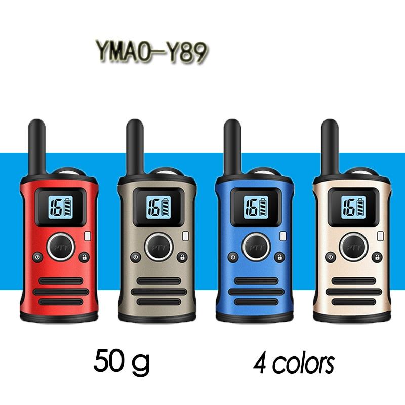 YMAO Y89 MINI Walkie Talkie Portable UHF Handheld Ham 99CH Ultra-small Radio Communicator HF Transceiver With Earpiece