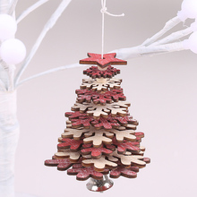 Christmas Wood Ornaments 3D Pendant Hanging Xmas Tree Decor Home Party JA55