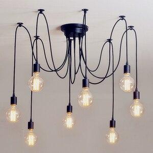 Потолочная люстра «сделай сам», светильник «Паук», скандинавский Ретро подвесной светильник Эдисона, винтажный подвесной светильник в сти...