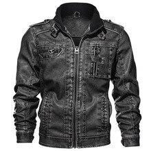 Мужские кожаные куртки, высокое качество, Классическая мотоциклетная куртка, Мужская куртка из искусственной кожи, весна, Прямая поставка