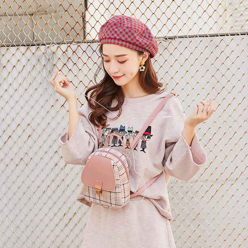 Dép Vento Marea Mini Ba Lô Túi Đeo Chéo Dành Cho Thiếu Nữ Kẻ Sọc Nữ Đeo Vai Điện Thoại Ví Phong Cách Hàn Quốc Mới Hợp Thời Trang Nữ Bagpack