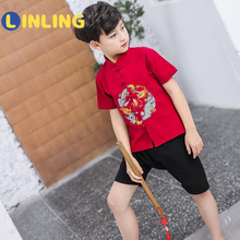 Clothing LINLING Short-Sleeved Children's The Han P717 Cardigan Chinese New
