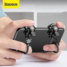 Baseus gamepad joystick para pubg jogo gatilho fogo aim botão l1 r1 telefone móvel shooter controlador joypad para ios android