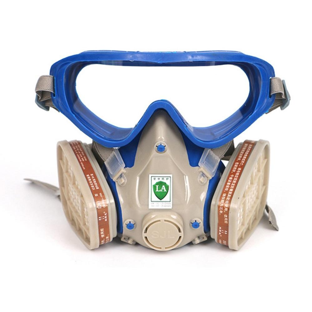 CyclingGas Mask Two Valves For Easy Breathing Easily Adjustable Strap Filtering Small Dusts Mists Metallic Fumes 1 Set