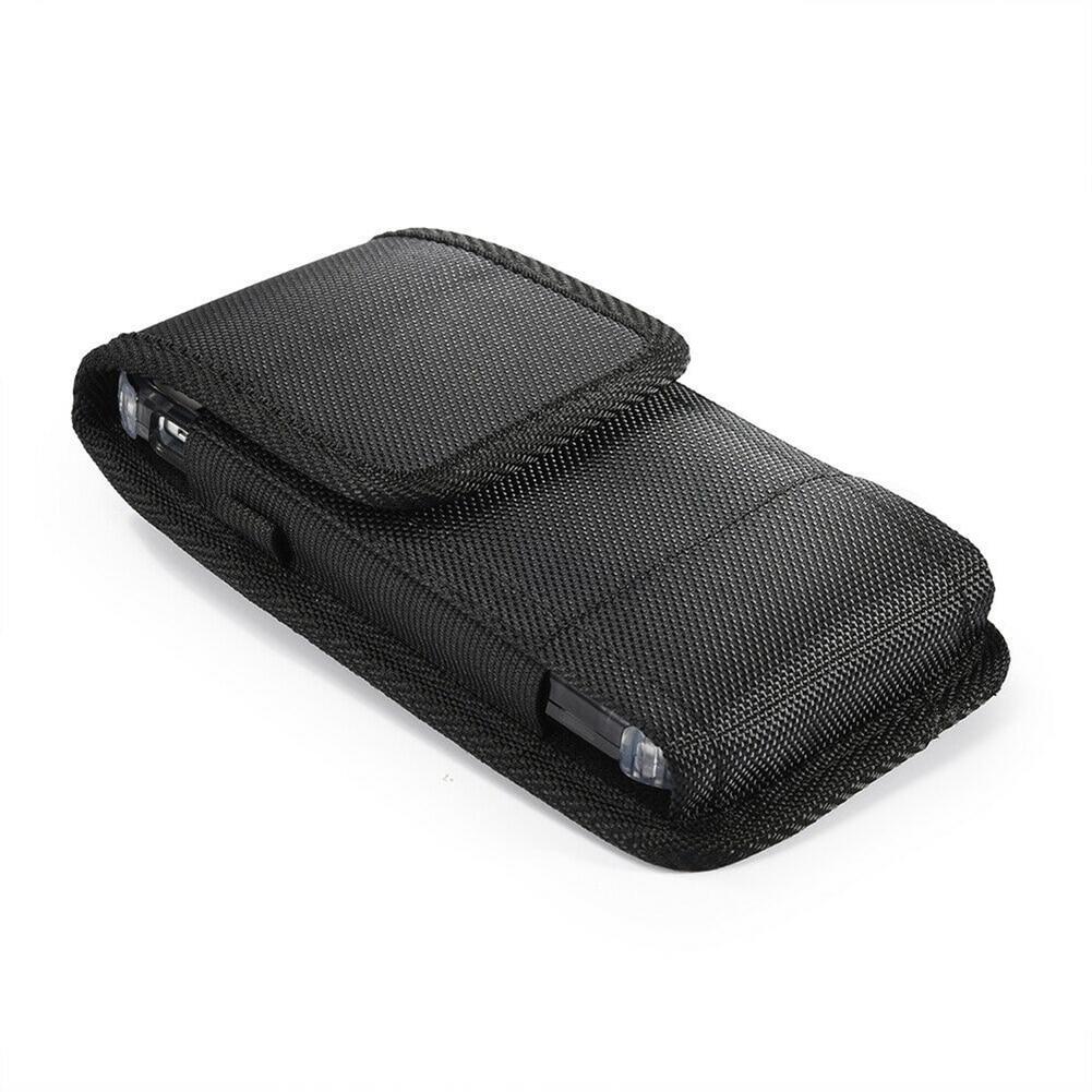 New Man Phone Pouch Hanging Waist Storage Bag Fanny Pack Black Classic Belt Clip Pouch Case Waist Bag Buckle On Belts Phone Bag
