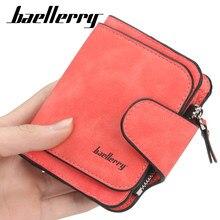 Baellery novo luxo fosco carteira de couro das mulheres curto moeda bolso titular do cartão pequenas senhoras bolsa de dinheiro carteiras