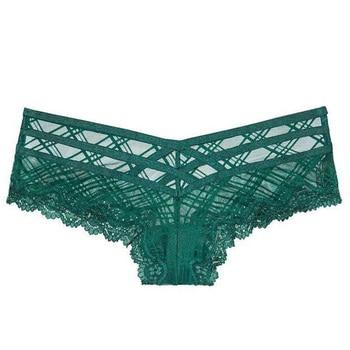 TERMEZY Sexy Bandage Panties Women Lace Low-waist Hollow Out Briefs Female Underwear Ladies Cross Strap Lace Lingerie G String 6