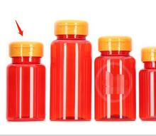 Bộ 50 100 Ml Mờ Đỏ Màu Thú Cưng Y Học Chai Có Orange Lật Chai, viên/Viên/Bột/Vitamin Chai Nhựa