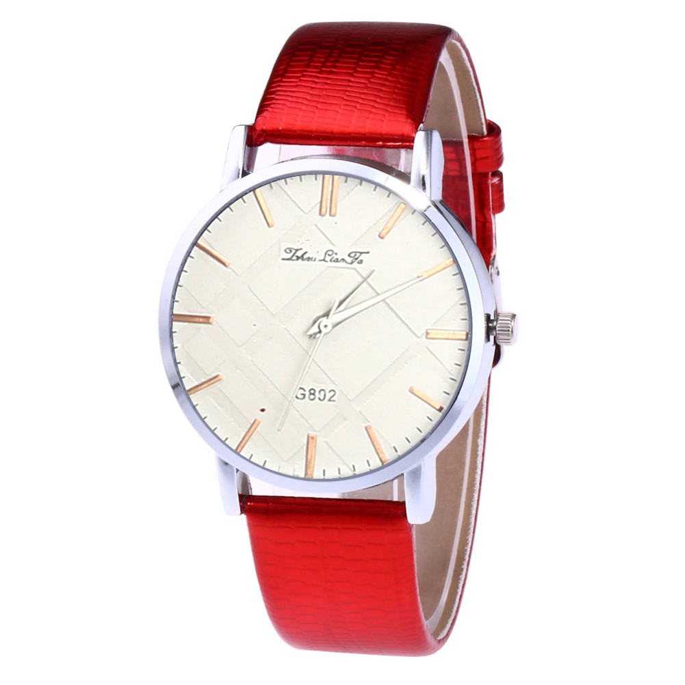 Female Simple Leather Strap Gift Watch Great Couple Watches Quartz Watch LL@17